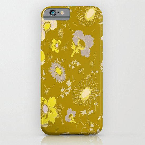 large flowers - mustards iPhone & iPod Case