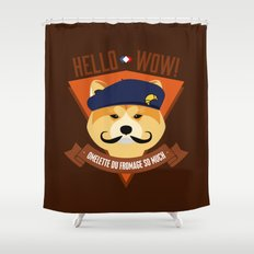 Hello wow, Omelette du Fromage So Much Shower Curtain
