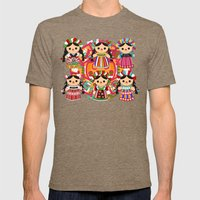 Mexican Dolls Mens Fitted Tee Tri-Coffee SMALL
