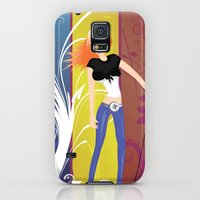 Galaxy S5 Cases featuring Beautiful Rock n Roll Singer by NextExit