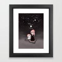 Black Xmas: A Merry Gothic Christmas Framed Art Print