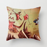 The Devil Is A Jerk Throw Pillow