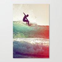 Danse avec les vagues Canvas Print
