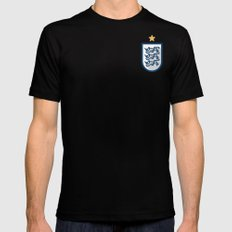 England Minimal SMALL Mens Fitted Tee Black