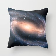 Barred Spiral Galaxy Throw Pillow