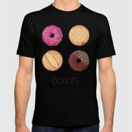 Donuts Mens Fitted Tee Black SMALL
