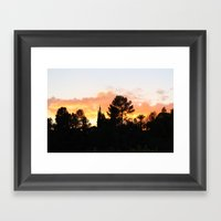 Over The Mountains Framed Art Print
