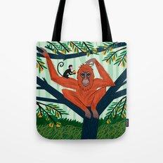 The Orangutan in The Orange Trees. Tote Bag