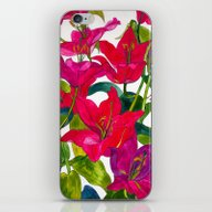 iPhone & iPod Skin featuring Pink Lilies by Marcella Wylie