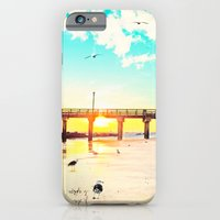 iPhone Cases featuring Boardwalk by Mina Teslaru