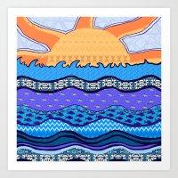 Sun on the Horizon Art Print