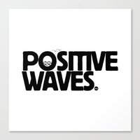 Positive Waves Canvas Print