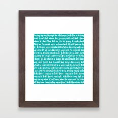Wake Me Up Framed Art Print