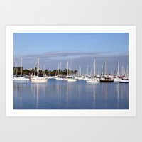 Biscayne Bay Sailboats Art Print
