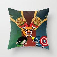 Powerpuff Girls Throw Pillow