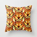 The Bold Wolf pattern Throw Pillow
