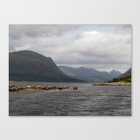 Loch Etive And Beinn Tri… Canvas Print