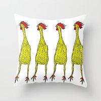 Rubber Chicken Throw Pillow