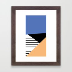 shapes and stripes Framed Art Print