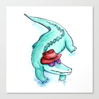 Krokodille Canvas Print
