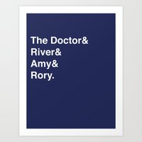 Doctor& Art Print