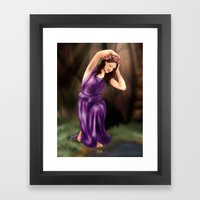 The Water Nymph Framed Art Print
