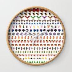 Clash of Pixels Wall Clock