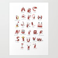 Pencil-ABC Art Print