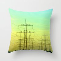 electric highway. Throw Pillow