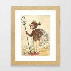 El pescado Framed Art Print