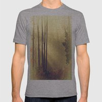 From Above Mens Fitted Tee Athletic Grey SMALL
