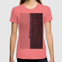 Los Angeles in fog Womens Fitted Tee Pomegranate SMALL