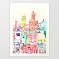 Marrakech Towers  Art Print