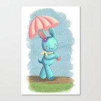 Walking On A Rainy Day Canvas Print
