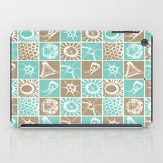 Microscopic Life Sillouetts Blue and Taupe iPad Case