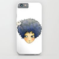 iPhone & iPod Case featuring the girl with lamb hair by YK Kim