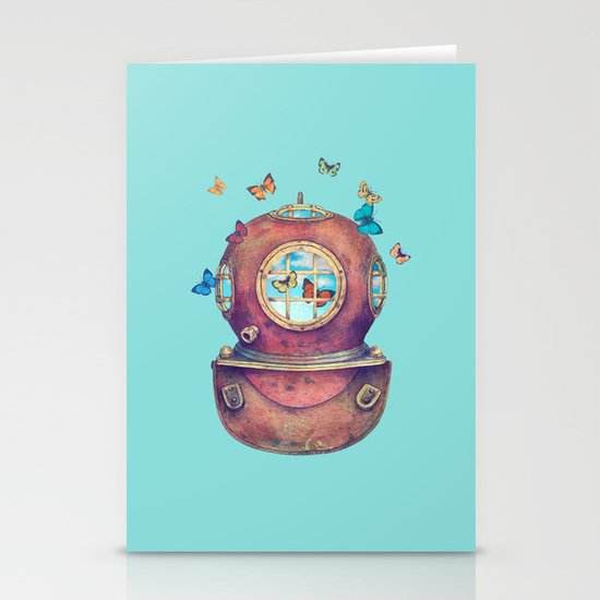 Inner Space  Stationery Card
