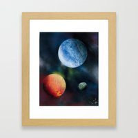 Celestial Triad Framed Art Print