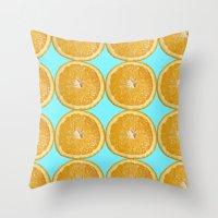 Oranges Fruit Citrus Pho… Throw Pillow