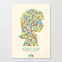 Inside Out Minimal Poste… Canvas Print