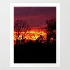 sunset 2016 Art Print