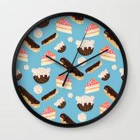 Sweet Things (on Blue) Wall Clock