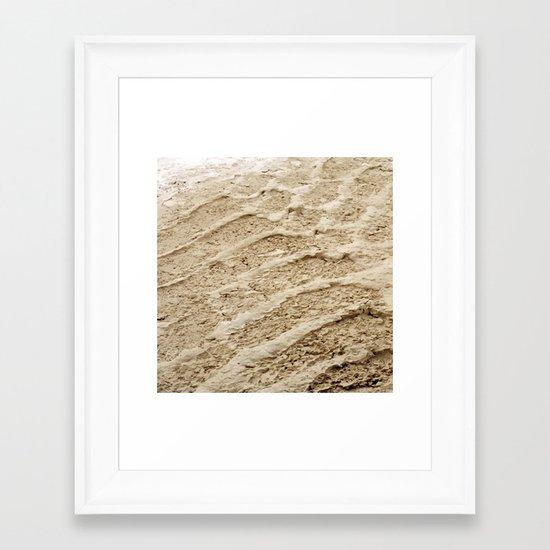 Wheel Loader Skid Marks 4 Framed Art Print