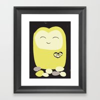 The Pebble Gatherer Framed Art Print