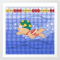 Olympic Sports: Swimming Art Print