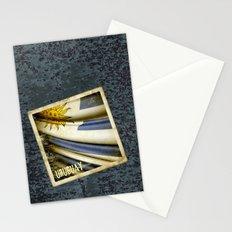 Grunge sticker of Uruguay flag Stationery Cards