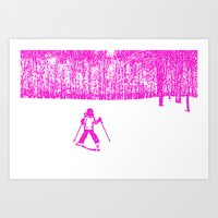 Little Skier II Art Print