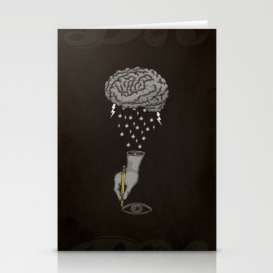 Brain Storm Stationery Card