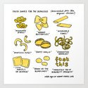 Pasta Shapes for the depressed Art Print