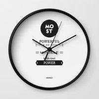 Seneca Quote - Most Powe… Wall Clock